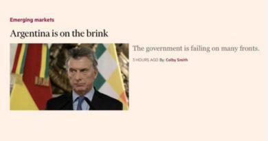 """Para el Financial Times, estamos """"en la cornisa"""""""